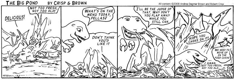 Pteronodons Meet T-Rex