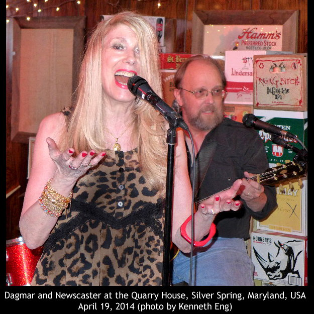 Dagmar Sings with Bob Newscaster on Guitar