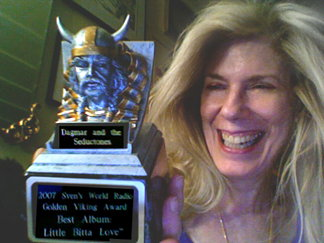Dagmar with Golden Viking Award