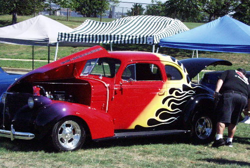 Red Flame Hotrod
